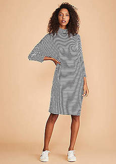 LOFT Lou & Grey Striped Turtleneck Signaturesoft Dolman Dress