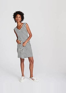 LOFT Lou & Grey Striped V-Neck Dress