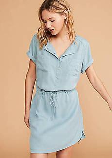 LOFT Lou & Grey Utility Shirtdress