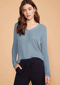 LOFT Lou & Grey V-Neck Tunic Sweater