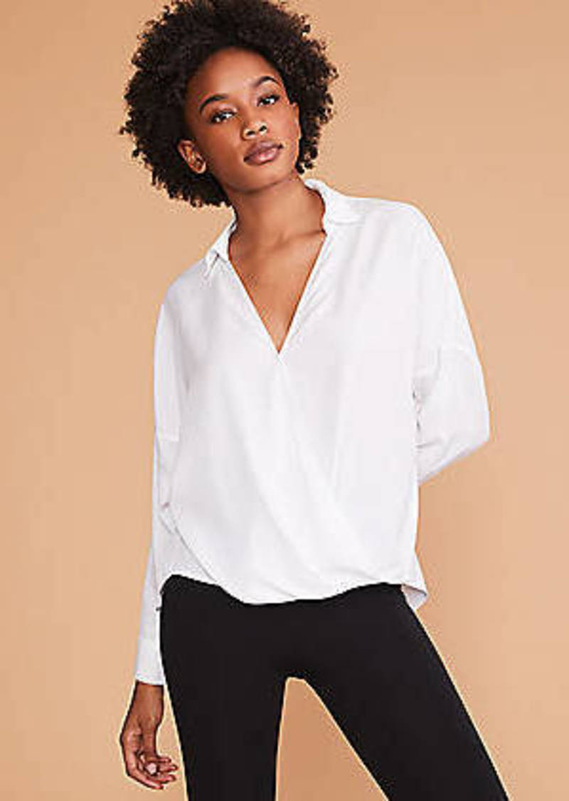 LOFT Lou & Grey Wrap Shirt