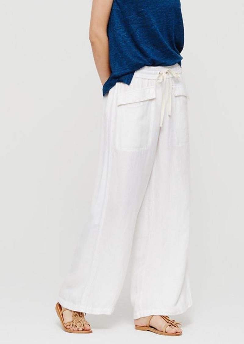 LOFT Lou & Grey Brushed Linen Drawstring Pants