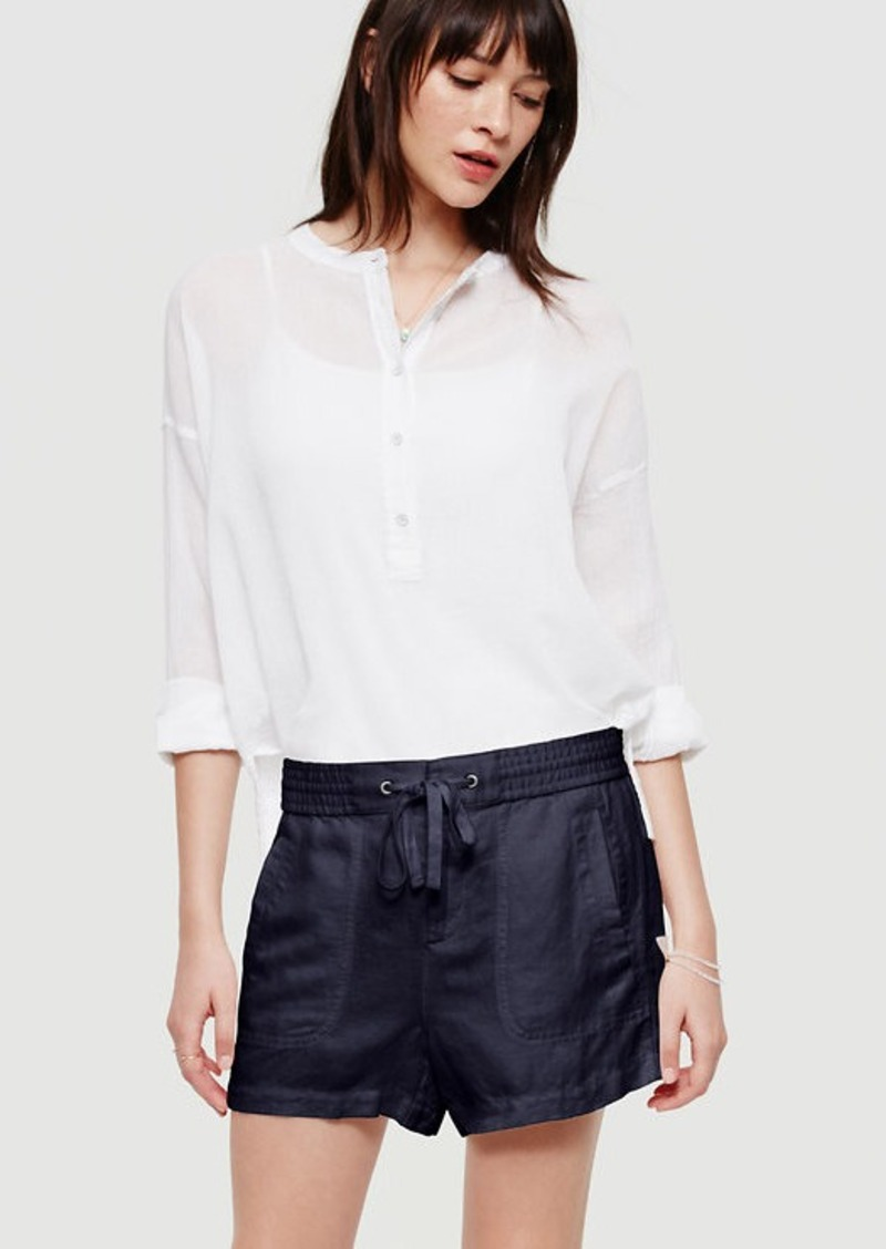 LOFT Lou & Grey Brushed Linen Shorts