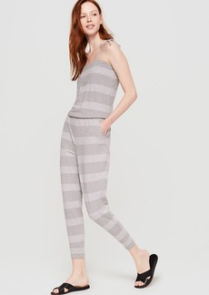 Lou & Grey Fineline Sueded Jersey Jumpsuit