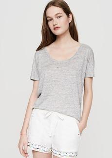 LOFT Lou & Grey Folktale Brushed Linen Shorts