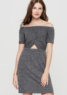 Lou & Grey Linen Jersey Twist Off The Shoulder Dress
