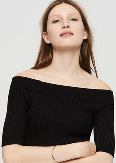 LOFT Lou & Grey Off The Shoulder Ribknit Sweater