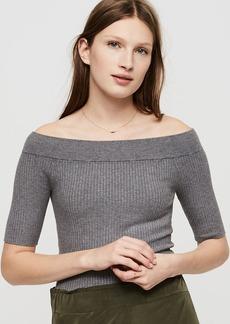 LOFT Lou & Grey Off The Shoulder Ribknit Sweater