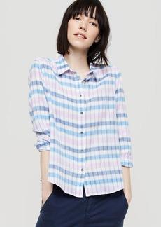 LOFT Lou & Grey Plaid Cropped Button Down Shirt