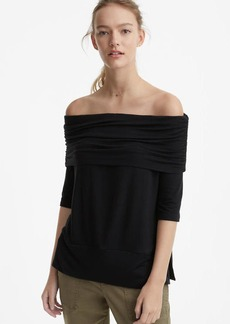 Lou & Grey Ruched Signaturesoft Off The Shoulder Top