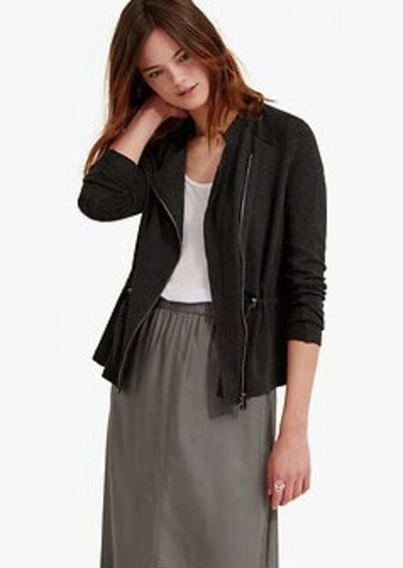 LOFT Lou & Grey Signaturesoft Drawstring Moto Jacket