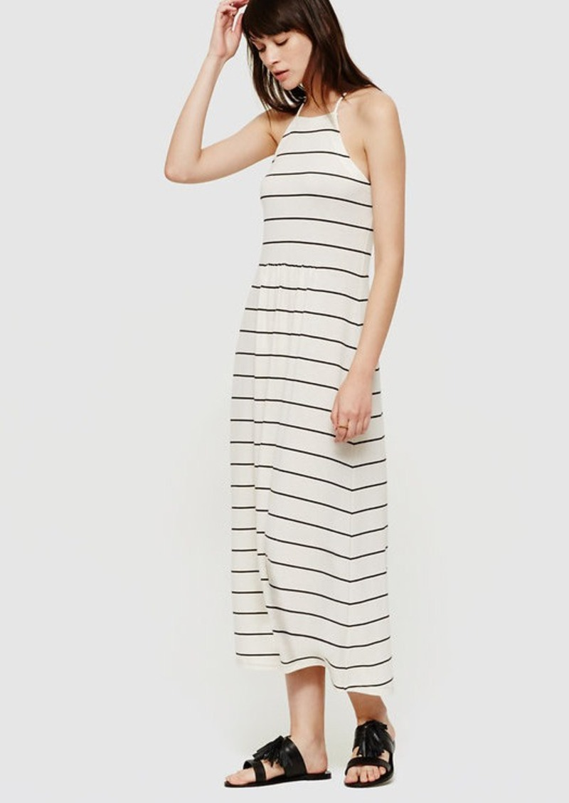 LOFT Lou & Grey Stripe Cutaway Midi Dress
