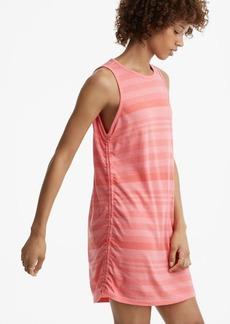 Lou & Grey Stripe Ruched Softserve Cotton Tank Dress