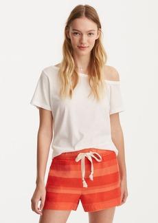 LOFT Lou & Grey Striped Brushed Linen Shorts
