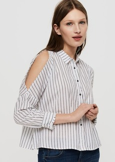 Lou & Grey Striped Cold Shoulder Shirt