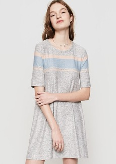 Lou & Grey Striped Marlknit Swing Dress