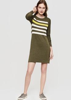 Lou & Grey Striped Signaturesoft Sweatshirt Dress