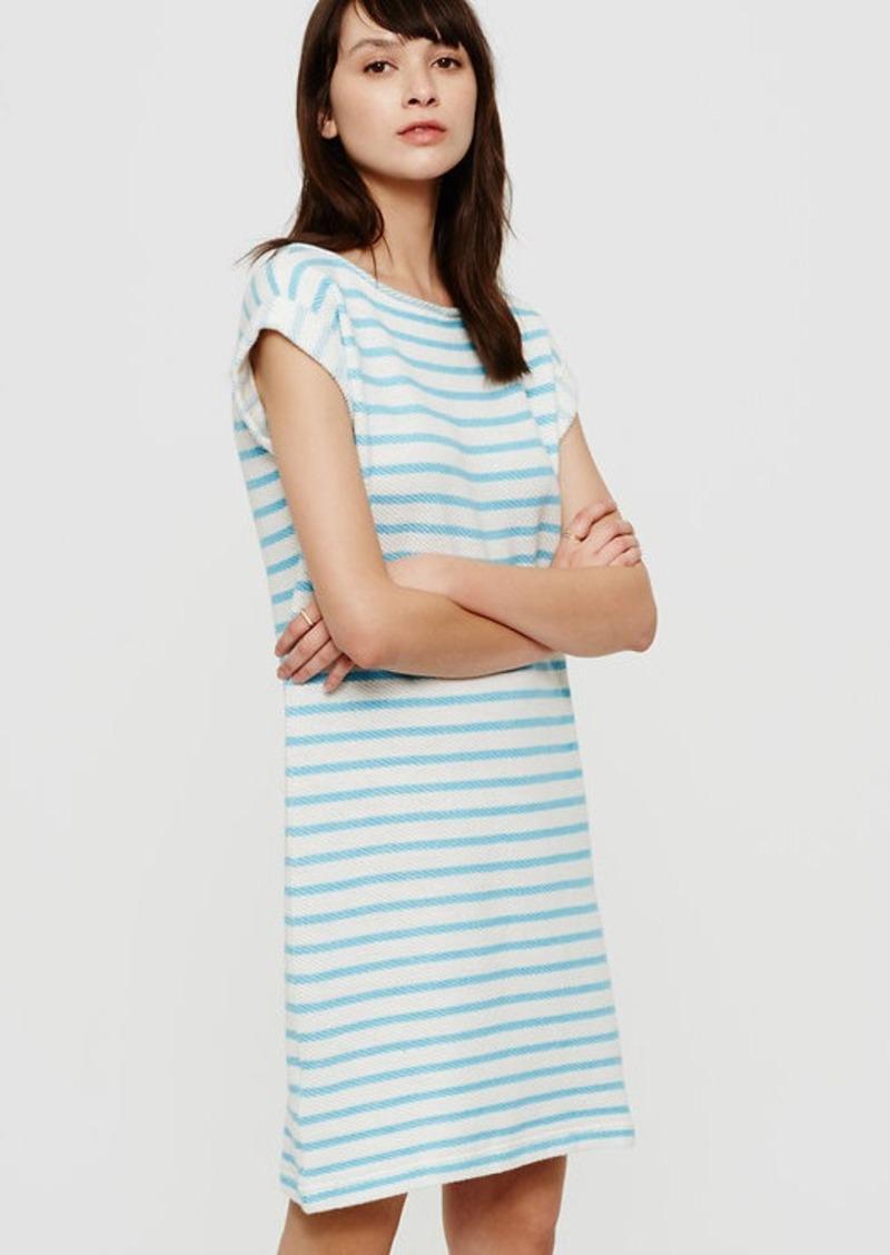 LOFT Lou & Grey Striped Summer Sweatshirt Dress