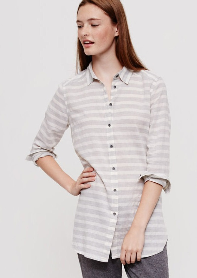LOFT Lou & Grey Striped Tunic Shirt