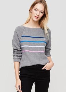 Lou & Grey Stripeliqué Sweatshirt