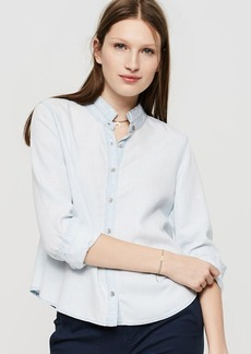 Lou & Grey Swingy Chambray Button Down Shirt