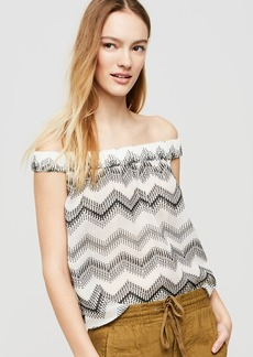 Lou & Grey Zig Zag Off The Shoulder Shirt
