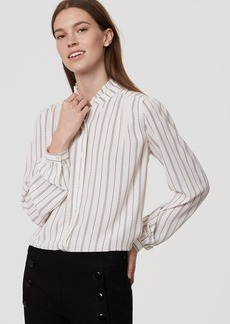 LOFT Loveline Ruffle Neck Blouse