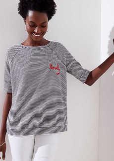 LOFT Lovely Striped Vintage Soft Sweatshirt Tee