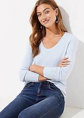 LOFT Luxe Knit Shirttail Sweater