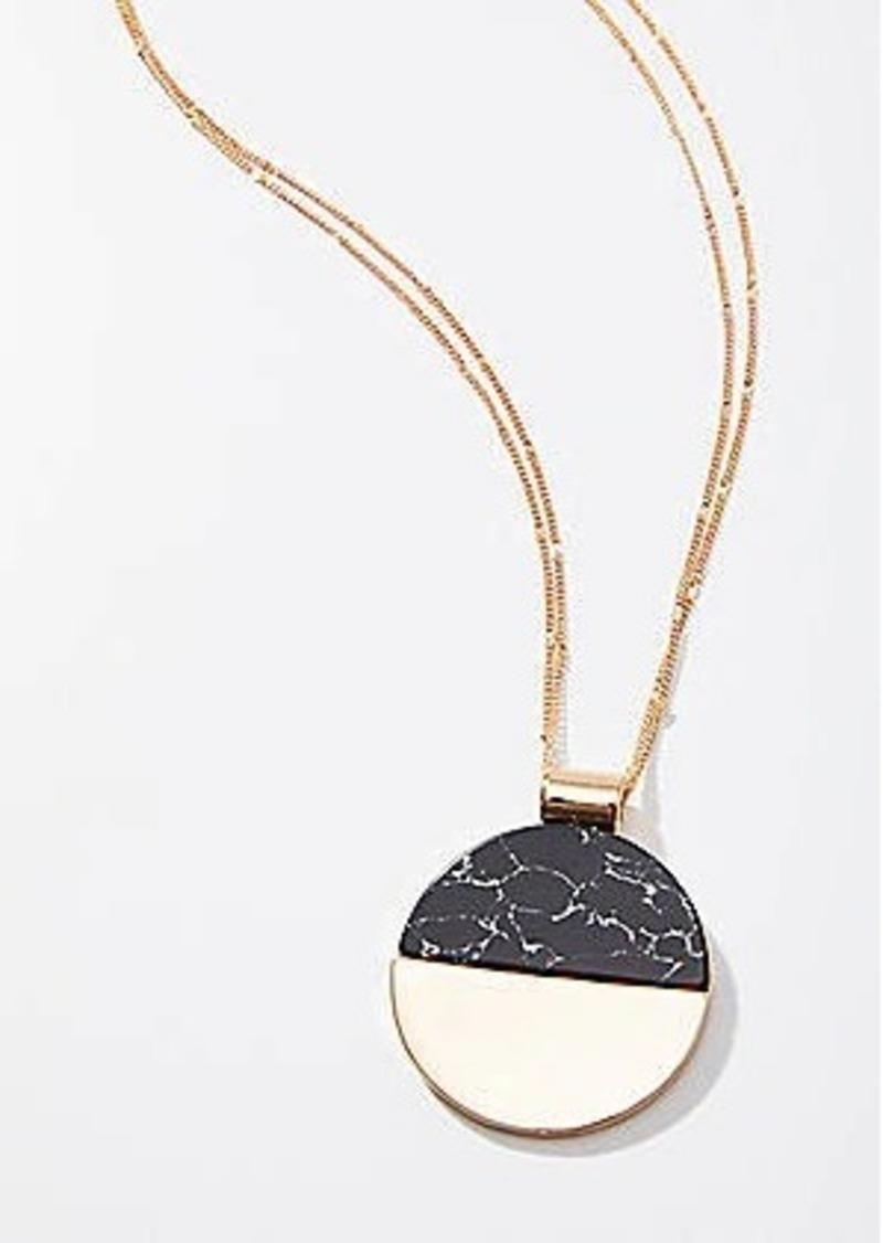 LOFT Marble Circle Pendant Necklace