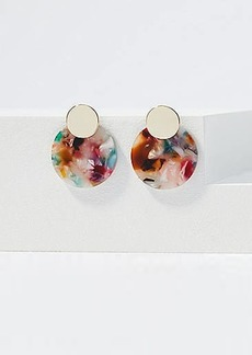 LOFT Marbleized Circle Earrings