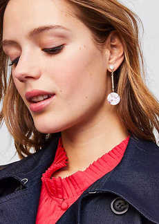 LOFT Marbleized Disc Drop Earrings