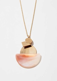 LOFT Marbleized Disc Pendant Necklace