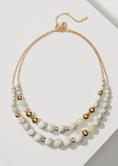 LOFT Marbleized Double Strand Beaded Necklace