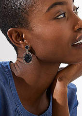 LOFT Marbleized Drop Earrings