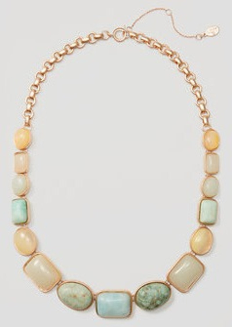 LOFT Marbleized Necklace