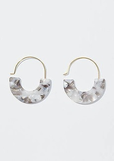 LOFT Marbleized Pull Through Hoop Earrings