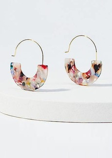 LOFT Marbleized Pull Through Hoop Earrings
