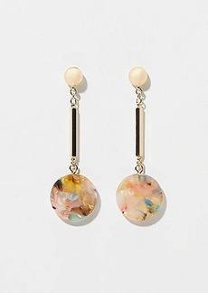 LOFT Marbleized Resin Disc Drop Earrings