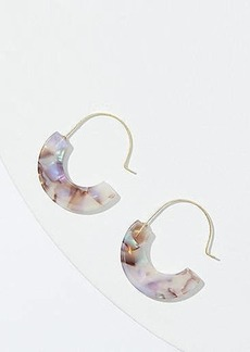LOFT Marbleized Resin Pull Through Earrings