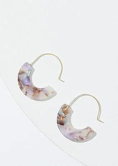 LOFT Marbleized Resin Pull Through Earrings