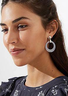 LOFT Marbleized Ring Drop Earrings