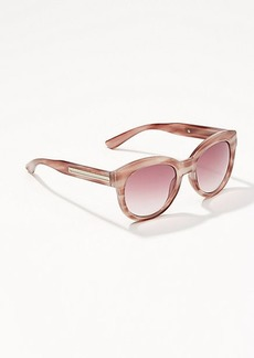 LOFT Marbleized Round Sunglasses