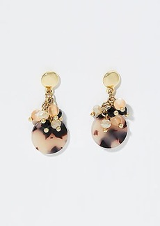 LOFT Marbleized Stone Cluster Earrings