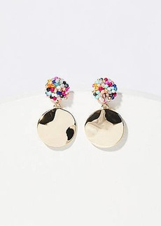 LOFT Beaded Metallic Disc Earrings