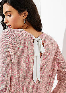 LOFT Marled Bow Back Sweater