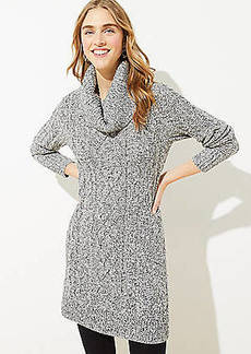 LOFT Marled Cable Sweater Dress