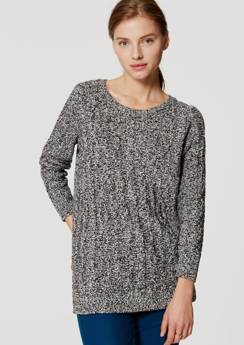 LOFT Marled Cable Tunic Sweater | Sweaters - Shop It To Me