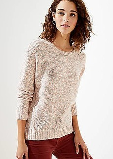 LOFT Marled Crew Neck Sweater