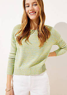 LOFT Marled Cropped Sweater